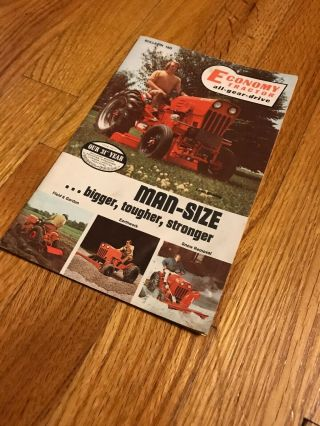 Vintage Rare Economy Power King Jim Dandy Tractor Brochure
