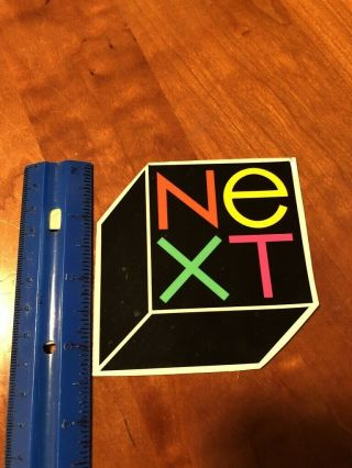 Vintage Next Computer Logo Sticker - Apple Macintosh Rare In Usa