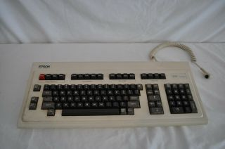 "Vintage Epson Keyboard Model Q703c With Wire "" Rare Hard To Find """