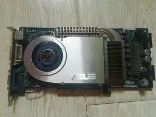 Asus 6800gt Agp V9999gt 256mb\256bit Graphics Card.  Very Rare Agp Card