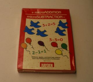 Rare Microaddition/microsubraction By Hayden For Atari 400/800 - Rarity 9