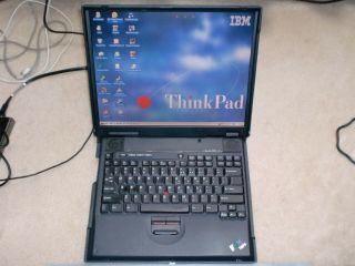 Vintage Ibm Thinkpad A21e Laptop With Windows 95 Installed Built - In Floppy,  Rare