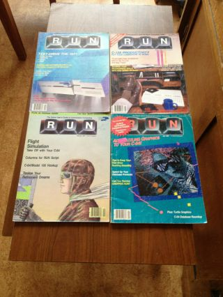 Vintage Computer Magazines - 4 X Old Commodore Computer Mags - Rare Finds
