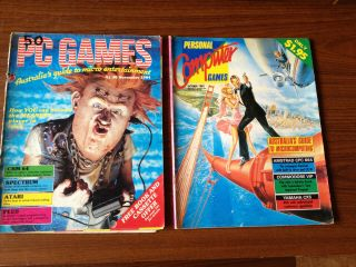 Vintage Computer Magazines - 2 X Old Pc Computer Mags - Rare Finds