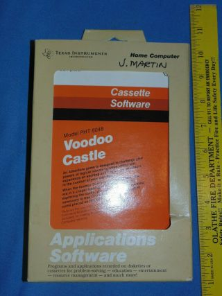 Ti Voodoo Castle Game - Video Texas Instruments Rare