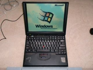 Vintage Ibm Thinkpad 600 Type 2645 Laptop With Windows 95 Installed,  Rare