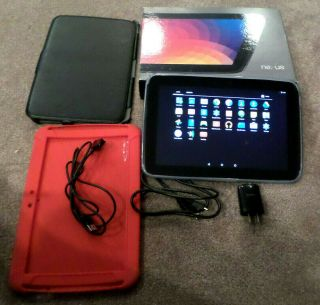 Google Nexus 10 Tablet 32gb 2560x1600 Res 10.  1 Screen Box & Rare Pogo