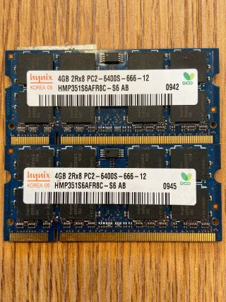 Rare 4gb Ddr2 Sodimm Kit Of 2 Pc6400s
