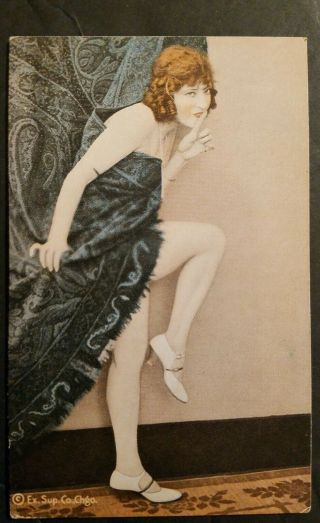 Exhibit Supply Early 1920s Color Pinup Arcade Extremely Rare Wow