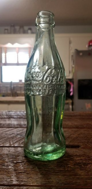 "Extremely Rare ""r,  "" 1915 Aliceville,  Alabama Coca Cola Hobbleskirt Bottle Ala Al"