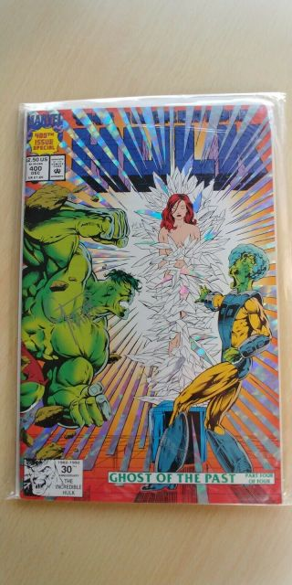 The Incredible Hulk 400 Autographed By Gary Frank,  Very Rare