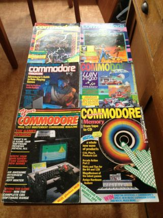Vintage Computer Magazines - 6 X Old Commodore Computer Mags - Rare Finds
