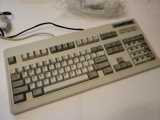 Compunet 2000 Vintage Keyboard And Phone Rare Mechanical