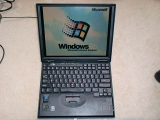 Ibm Thinkpad 600 Type 2645 Laptop With Windows 95 Installed,  Floppy Drive,  Rare