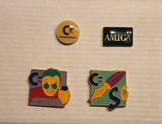 Vintage Commodore Amiga Computer Lapel Pin Set – Very Rare