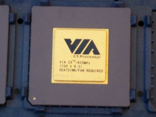 Via C - 3 600 Mhz Socket 370 Cpu@fully & Working@pga 370@collectable@rare