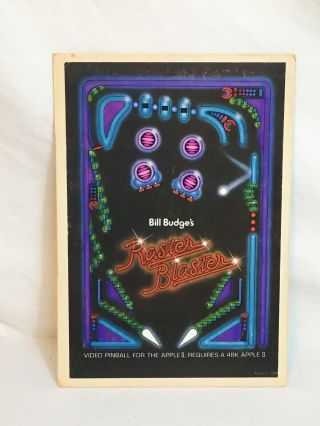 Vintage Apple Ii Raster Blaster 1981 Rare Bill Budge