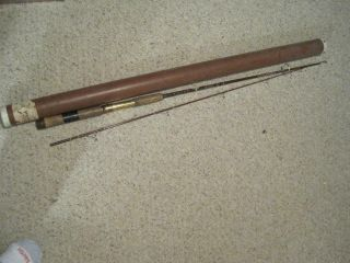 Vintage Fenwick Fs 65 Spinning Rod 6 /2 Ft.  Cork Handle With Tube Cond.