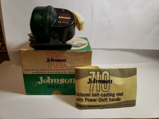 Johnson Model 710 Casting Fishing Reel And Instructions