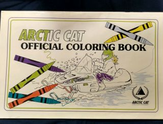 Arctic Cat Coloring Book 1995 Not Colored On/in.