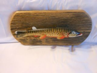 Oscar Peterson Fish Spearing Decoy Wall Plaque By Ron Jacobson Fishing Lure 2