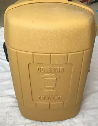 Vintage Coleman Yellow Lantern Clamshell Carry Case