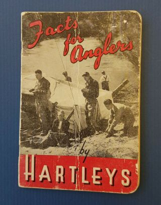 Book - Facts For Anglers By Hartleys Frail Cond.  Lovely Antique Book (ref - N1095)