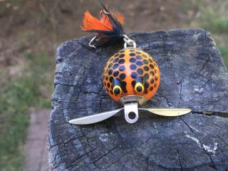 Vintage Worth Co.  Flutter Fin Lure Made In Usa
