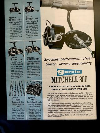 Vintage Garcia Mitchell 300 Spinning Reel Made In France And Smooth
