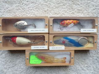 Lures In Wood Coffin