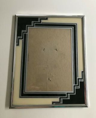 Vintage Reverse Painted Glass Art Deco Picture Frame