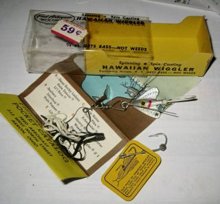 Vintage Hawaiian Wiggler No.  230s 1/4 Oz.  Fishing Lure Mfg.  By Fred Arbogast Nos