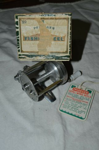 Vintage Pflueger Summit Fishing Reel In Correct Box With Tag - Great Combo