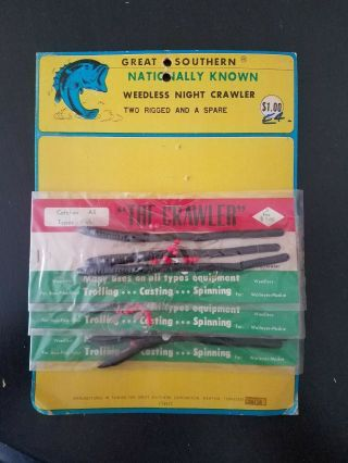 Great Southern Fishing Lures Tackle Store Display Vintage Rare Memphis Tn