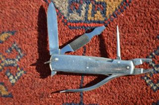 Vintage Fisherman Tool.  Compact Four Tools In One.