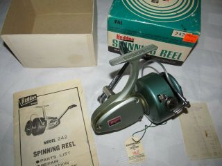 Large Heddon Daisy,  242 Spinning Reel,  W/ Box,  Papers,  And Hang Tag,  Reel