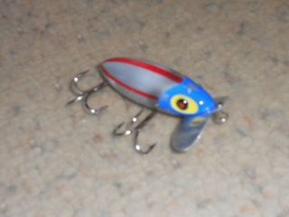 "Vintage Fred Arbogast Jitterbug 2.  5 "" Fishing Lure - Rare U.  S.  A.  Colors -"