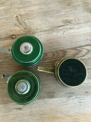 Shakespeare Vintage Green No.  1821 Model Gd Auto Reel Also 1837& Perrine Pemco