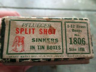 Vintage Pflueger Split Shot Sinkers In Tin And Boxes No.  1806 Complete Set
