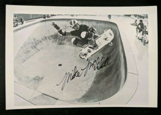 Mike Mcgill Signed Powell Peralta Skateboarding Photo