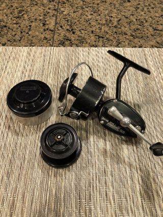 Vintage Garcia Mitchell 300 Spinning Reel.  Extra Spool And Case