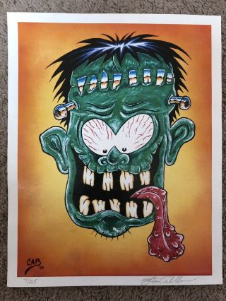 Steve Caballero Signed Print Art Collectible Rare Powell Peralta 7/25 Limited