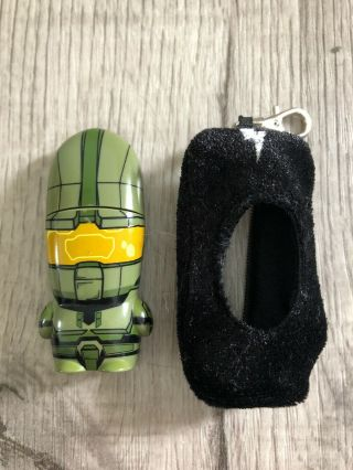 Halo Mimobot Green Master Chief - 1gb Usb Flash Drive W/ Cover/keychain - Rare