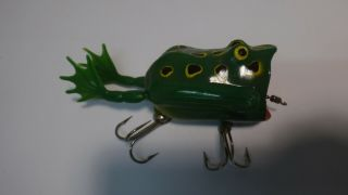 Vintage Fishing Lure Mechanical Frog With Moving Legs L@@k