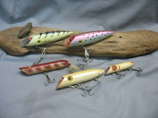 Vintage/old Fishing Lures - 5 Antique Baits - Salmon Plugs - Luhr Jensen - Etc.