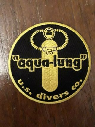 Vintage Nos Us Divers Co.  Aqua - Lung Embroidered Patch