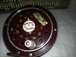Vintage South Bend Finalist Fly Reel & Perrine Box & Flies