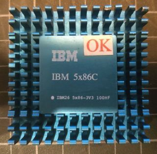 Ibm 5x86 - 3v3 100hf Ibm Gold Vintage Collectible Rare
