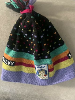 Vintage 80s Official Italia Ski Team Hat By Silvy.  Fisi.  Collectors Item,  Rare