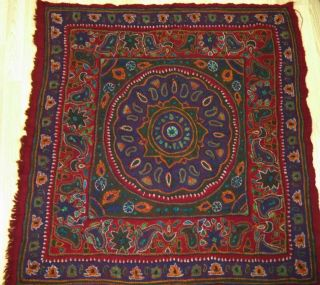 Islamic,  Early 20th Century,  Kerman Textile Embroidery Pateh,  Hand Made